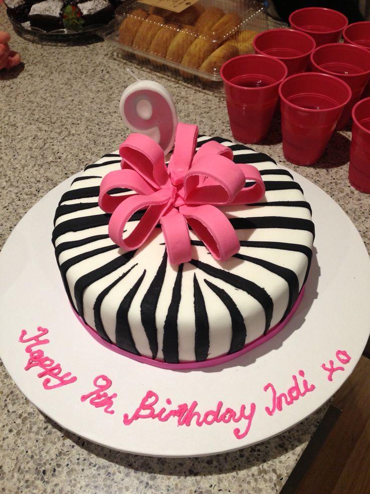 Zebra Cake #9thbirthday