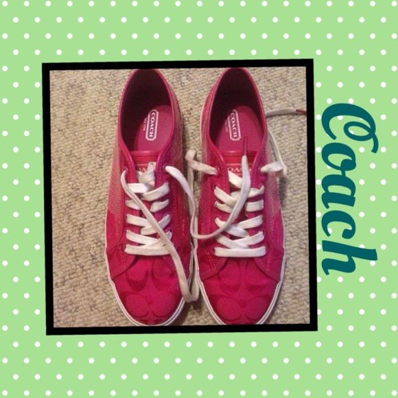 Coach Sneakers Coach sneaker. Super cute. Very good used condition Coach Shoes Sneakers