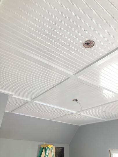 EUCATILE 32 sq. ft. 3/16 in. x 48 in. x 96 in. Beadboard White True Bead Panel-975-759