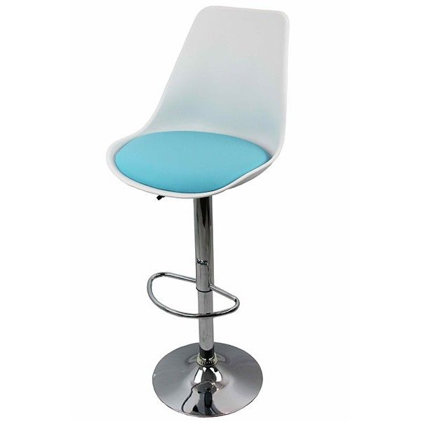 White bar stool with blue seat from http://www.scauneonline.ro/scaune-de-bar-abs-142