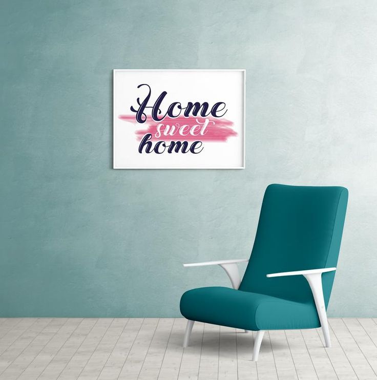 Home Sweet Home Print, Living room wall art, Simple Typography Print, Home Sweet Home Poster, Printable Home Decor, above couch decor