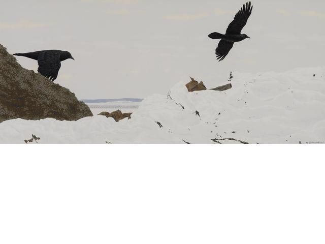 Ravens at the Dump, Alex Colville