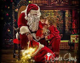 Pictures with Santa, magical Santa pictures, children with Santa, holiday children's portraits, unique timeless pictures with Santa, family pictures with Santa, Christmas pictures with Santa santaclausexperience | Gallery