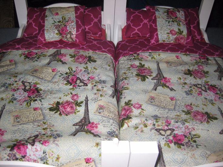 American Girl Ispired Doll Grace,Paris Design Eiffel Tower  Bunk bed Bedding  | eBay