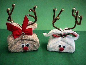 washcloth reindeer tutorial