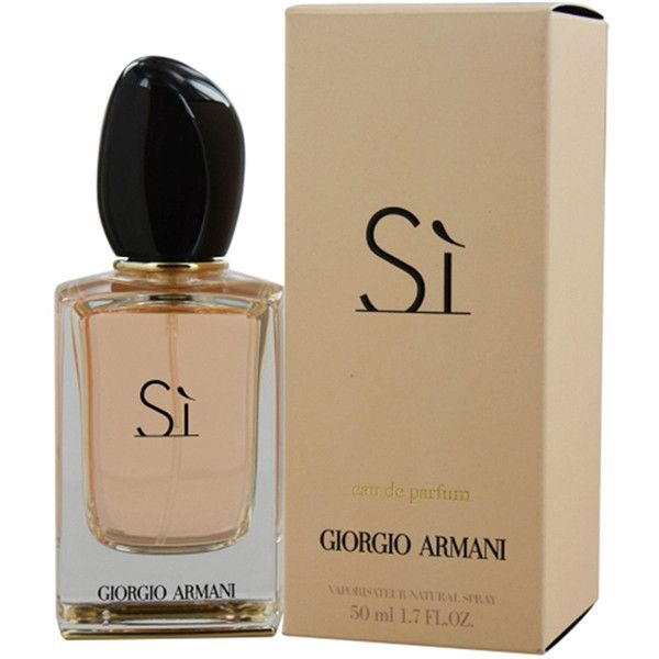 ARMANI Si by Giorgio Eau De Parfum for Women; 1.7 Oz ($70) ❤ liked on Polyvore featuring beauty products, fragrance, white, women's fragrance, heart perfume, eau de perfume, floral perfumes, eau de parfum perfume and edp perfume
