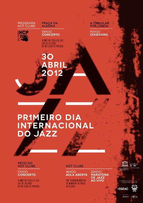 First International Jazz Day by João Neves, via Behance