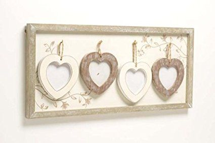 Photo Frame With 4 Individual Hearts By Heaven Sends