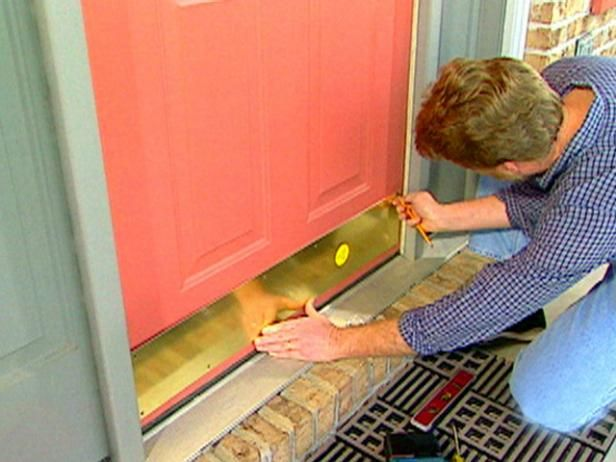 Watch this HGTV video about sprucing up your front door's look with a stylish new kick plate.