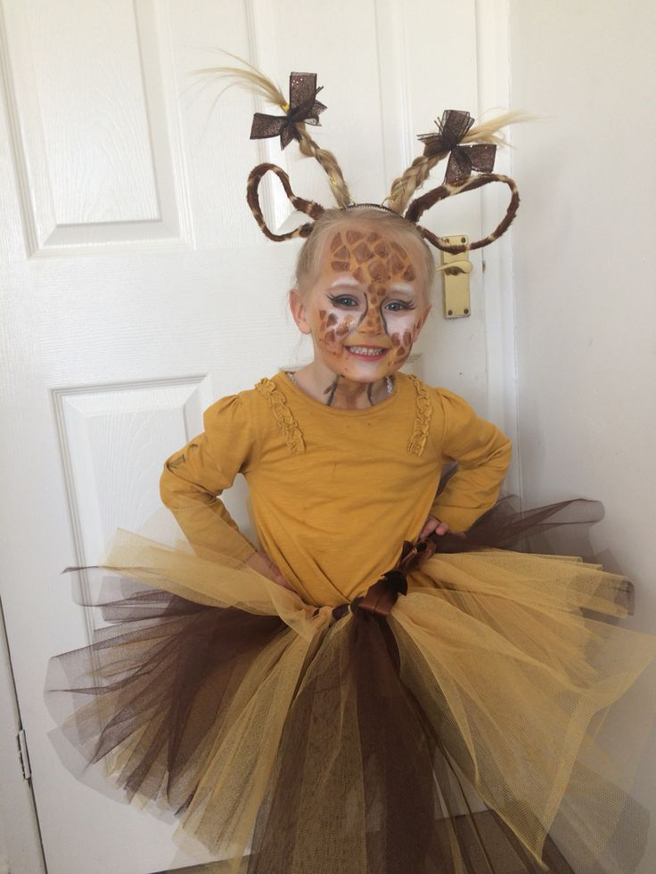 Dear zoo, giraffe, tutu, fancy dress, world book day, Halloween, cute, face paint.