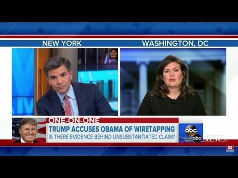 ABC's George Stephanopoulos Caught Sarah Lying 'Trump Wiretapping Allegations' - YouTube