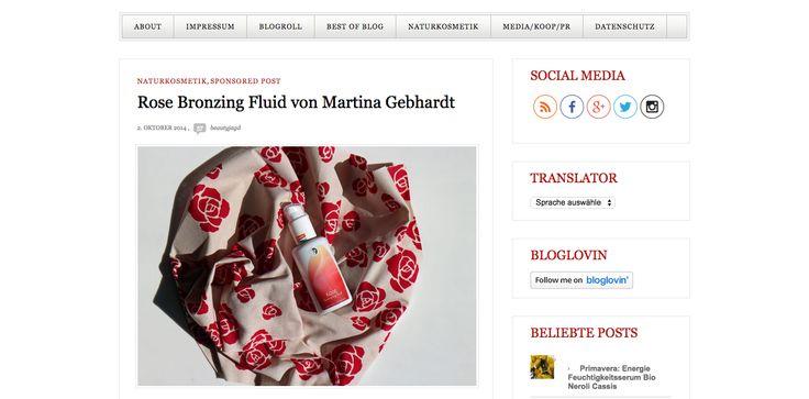 Rose Bronzing Fluid von Martina Gebhardt | Beautyjagd