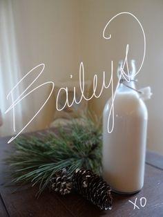 Homemade Baileys Recipe  13 oz. vodka 1 can (300 ml) eagle brand condensed milk 2 tbsp. chocolate syrup 1 pint (16 oz.) of table cream