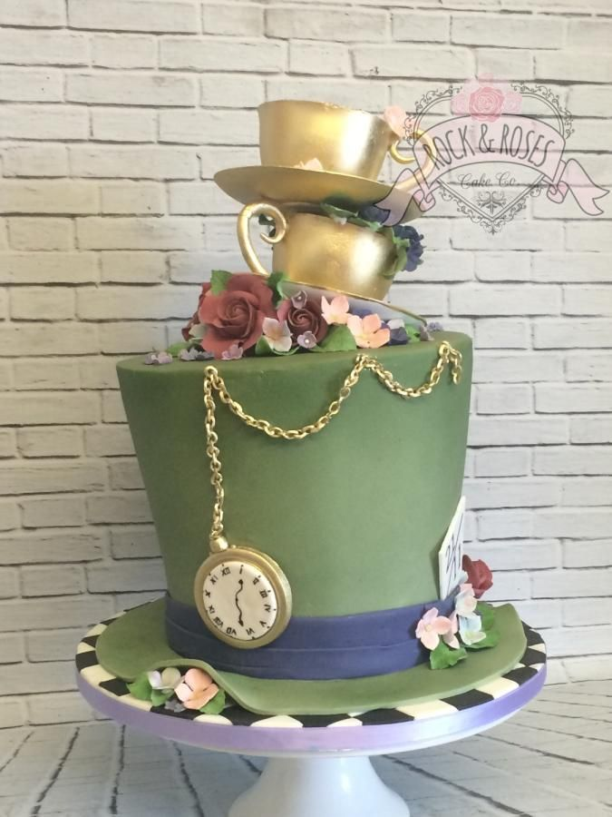 Mad hatters tea party  - Cake by Rock and Roses cake co.