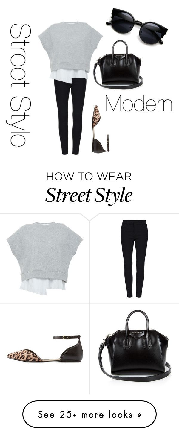 """Modern street style- black, white, grey"" by rcpolyvoreuser on Polyvore featuring 10 Crosby Derek Lam, Givenchy, Qupid, modern, women's clothing, women's fashion, women, female, woman and misses"
