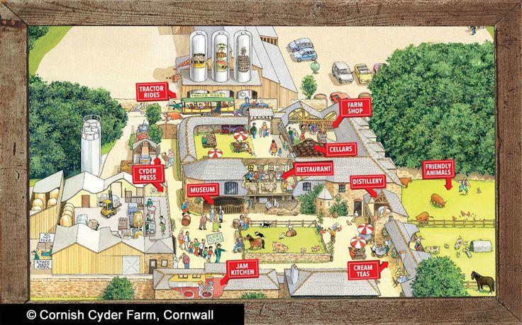 Map of Healey's Cornish Cyder Farm, Cornwall