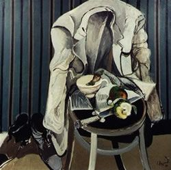 """El saco blanco"" - Oleo s.tela - 100 x 100 cm. - 1970 - Carlos Alonso"