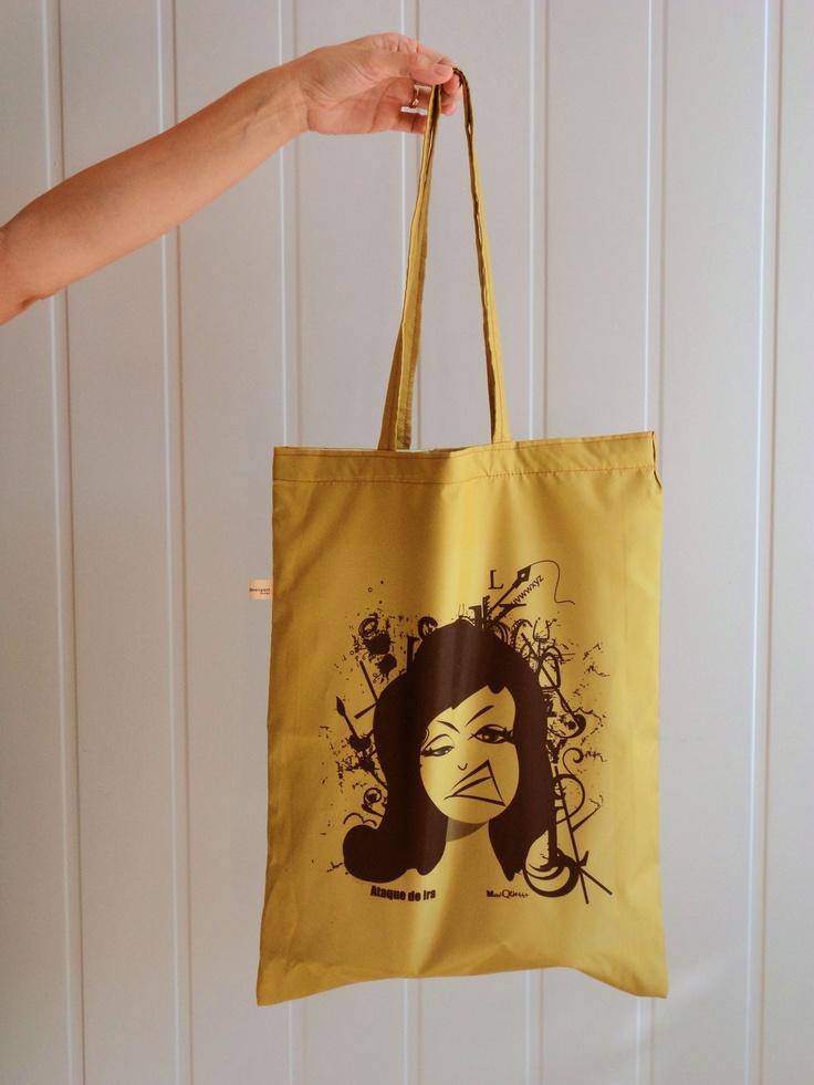 "No uses bolsas plásticas!! tenés nuestra bolsa ""ataque de ira"""
