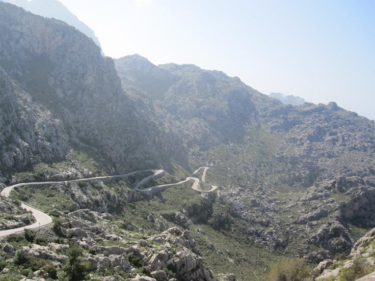 Climb of Sa Calobra, Majorca, Spain.