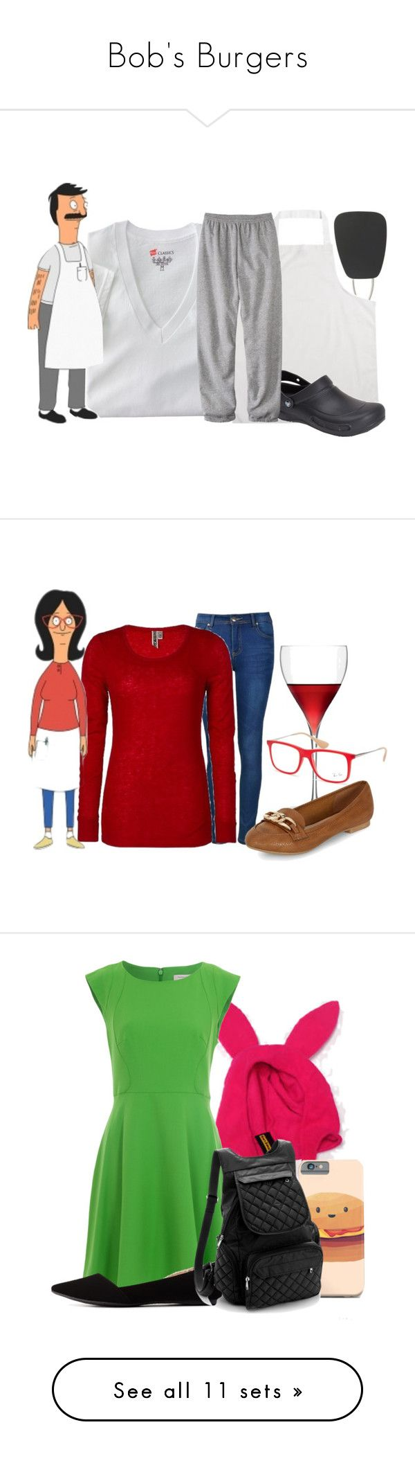 """Bob's Burgers"" by almostfamous86 ❤ liked on Polyvore featuring OXO, Hanes, Crocs, men's fashion, menswear, television, casualoutfit, cartoons, bobsburgers and Ally Fashion"