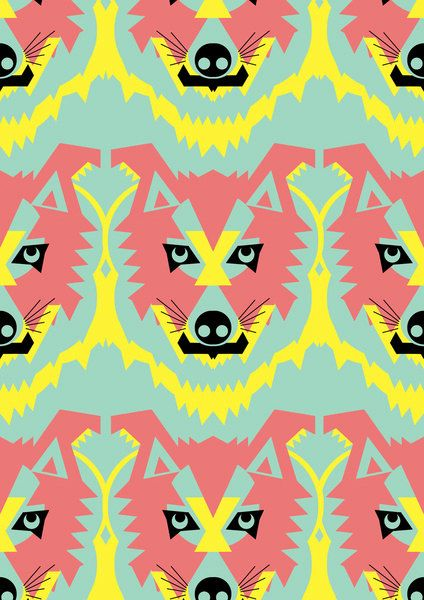 The Pack of Modular Wolves graphic art print / by GarethPollockArt