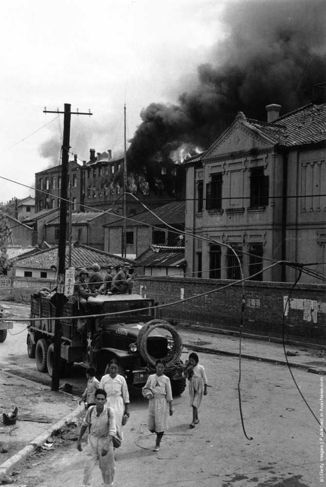 Korean War. Getty Images.
