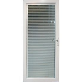 Pella Venetian White Full-View Tempered Glass Blinds Between The Glass Storm Door (Common: 32-in x 81-in; Actual: 31.75-in x 79.875-in)