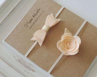 <b>Baby Headband</b>, PICK your COLOR Felt Flower <b>Headband in</b> Pink ...