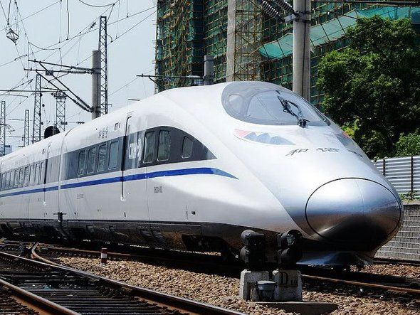 China broke the 300 MPH barrier with the CRH380A. The 302 MPH top speed makes this the fastest possible way to legally travel by land.  The fastest train of the world.  China broke the 300 mph barrier with the crh380a the 302 mph top speed makes this the fastest possible way to legally travel by land.