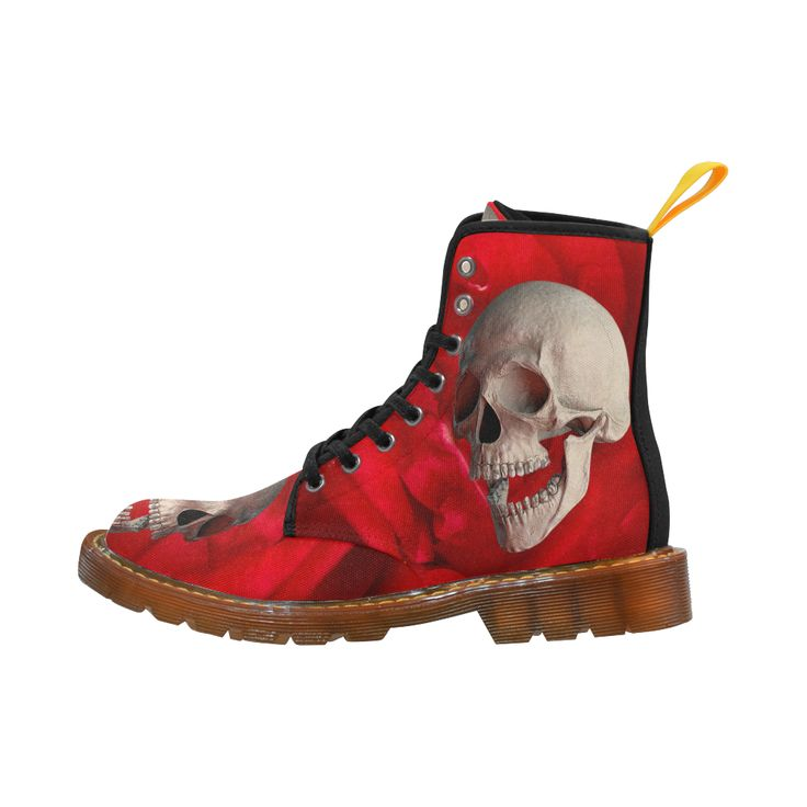 Funny Skull and Rose Martin Boots For Women Model 1203H
