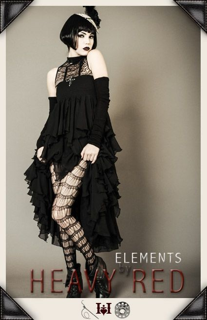 SECLUSION & DESOLATION RUFFLE TOWER SKIRT
