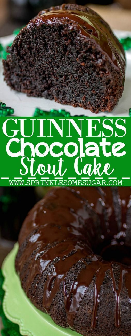 This chocolate stout cake is fudgy, rich and super chocolatey. Such a fun dessert for St. Patrick's Day!