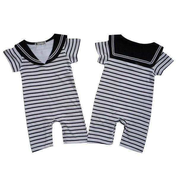 Recién nacidos rayas divertido marinero bebé ropa del bebé del mameluco del mono roupas bebes infantil barboteuse bebé mameluco del traje del bebé(China (Mainland))