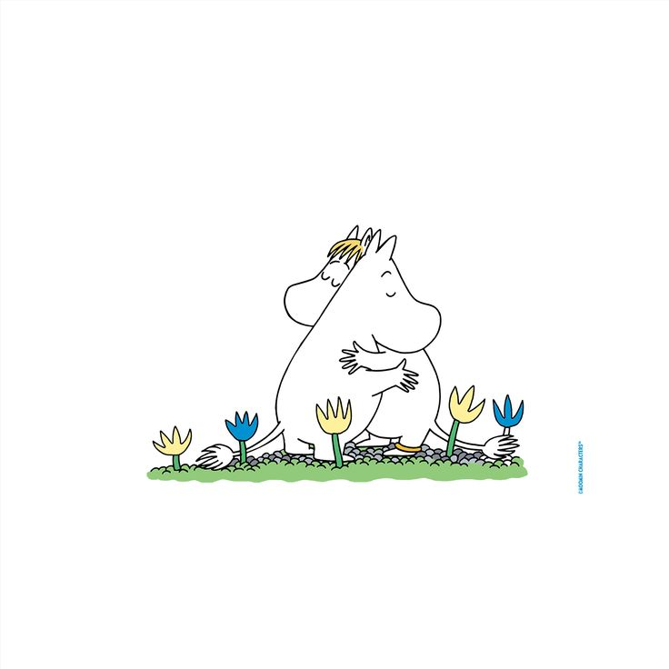 To celebrate that we just released our first Moomin app, we've created a set of wallpapers featuring the Moomin sticker characters...
