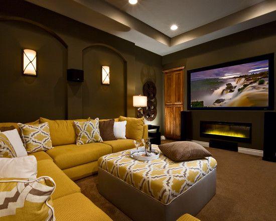 jimmy jacobs custom homes vintage oaks contemporary media room austin mary dewalt design group - Home Theater Design Group