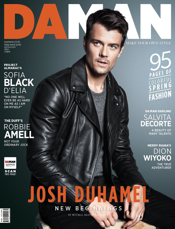 Josh Duhamel on the cover DAMAN FEB/MAR 2015 issue