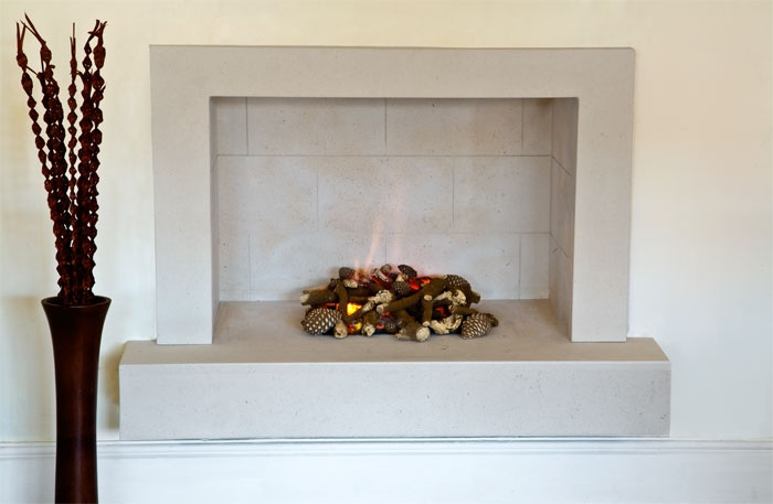 Uberlegen The Niche Limestone Fireplace · Kalkstein KaminKamine
