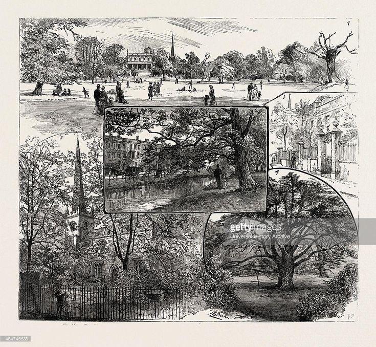 Clissold Park, St. Mary's Old Church, Paradise Row and the New River (western Church St), Church Row (Church St)