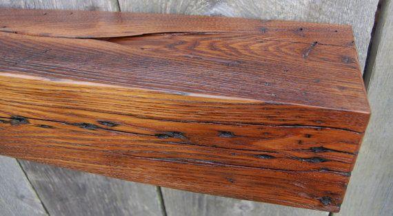 Chestnut Barn Beam Mantel Ledge Shelf Bar by RWaltersWoodworking, $285.00