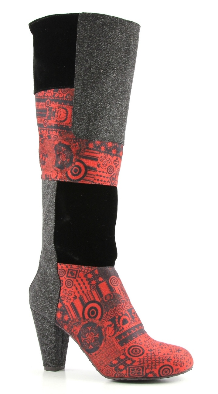 Desigual boots shanon multi color hoge hakken laarzen.