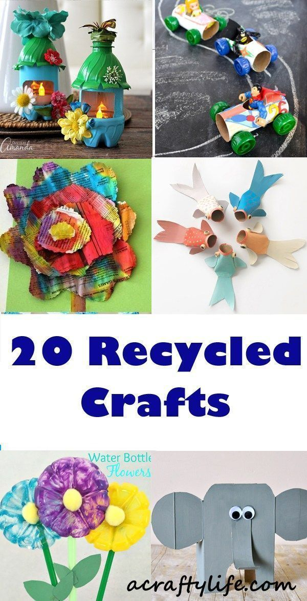 28 Recycled Kid Crafts Reuse Recycle Crafts Earth Day A Crafty Life Recycled Crafts Kids Recycled Crafts Kids Projects Recycling For Kids