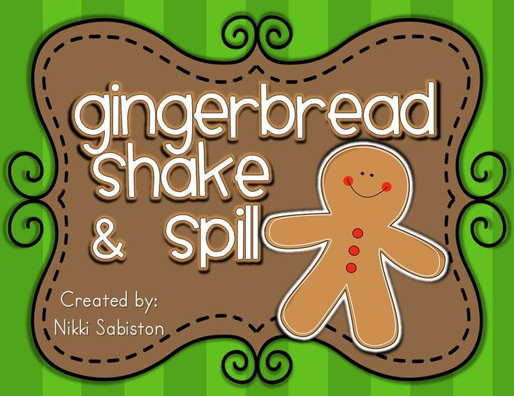 Gingerbread man shake and spill mats - FREE