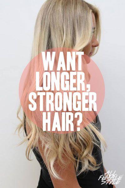 Check Out Rebecca Lynn's Latest Secret for Longer, Stronger Hair! - http://allfemalestyle.com/longer-stronger-pinterest-exclusive-pin11/
