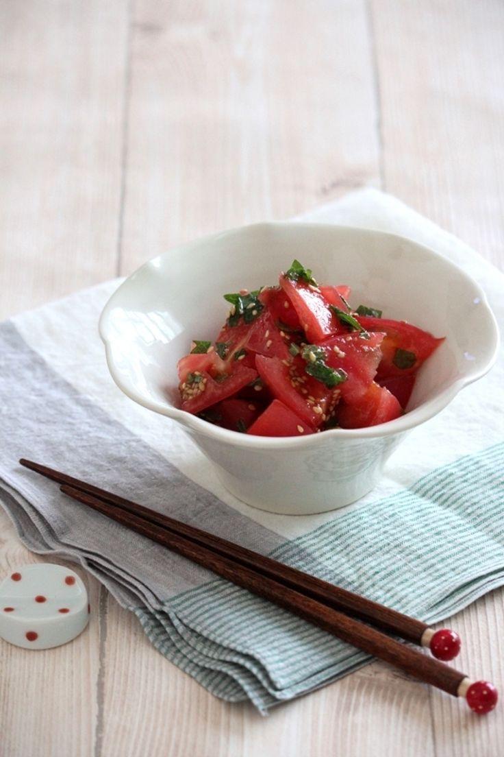 トマトの大葉ナムル。 by 栁川かおり   レシピサイト「Nadia   ナディア」プロの料理を無料で検索