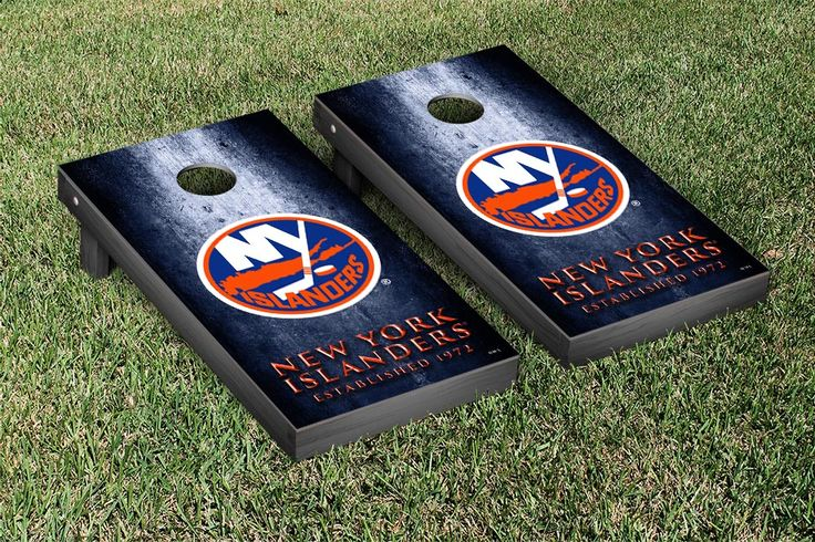 New York Islanders NHL Cornhole Boards Museum version #cornhole #victorytailgate