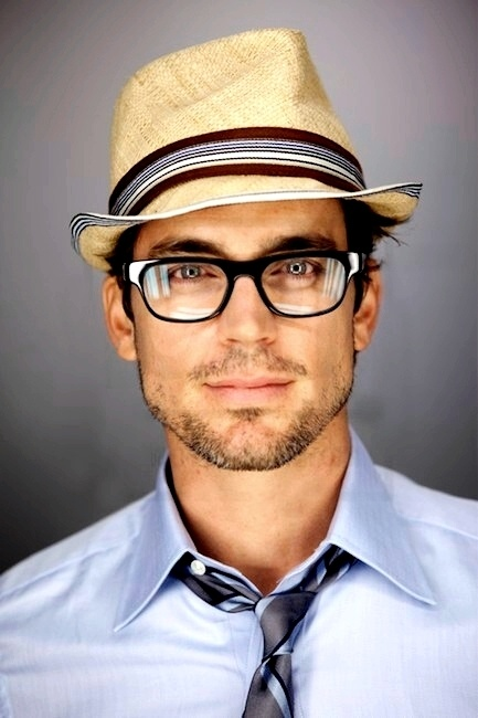 Shirt and hat: White Collars, Bows Ties,  Bowties, Glasses, Matte Bomer, This Men, Matthew Bomer, Men Fashion,  Bow-Tie
