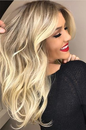 Amazing blonde balayage hair colored highlights to get most attractive hair look in 2017 2018.