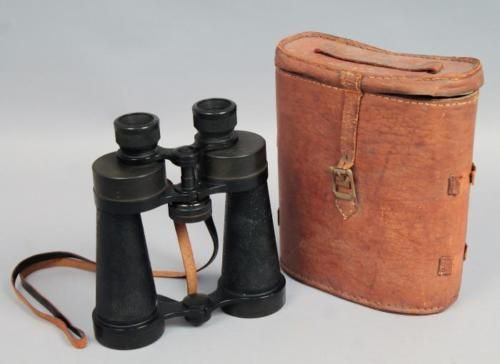 Good-Pair-Barr-Stroud-World-War-II-WWII-British-Patent-Military-Binoculars