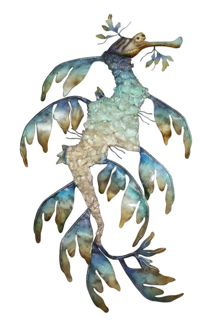Sea Dragon Crushed Wall Art Capiz & Metal