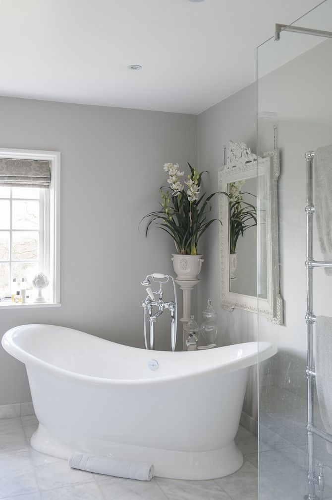 25 best ideas about light grey walls on pinterest grey for Large bathroom designs